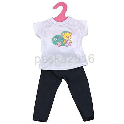 White Short Sleeve T-shirt + Jeans Pants for 18'' American Girl My Life Doll