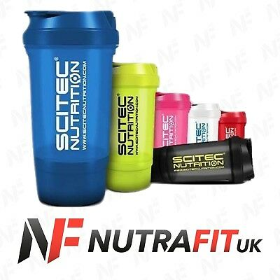 SCITEC NUTRITION TRAVELLER SHAKER 500ml PROTEIN CAPS CONTAINER