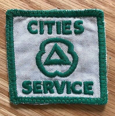 Vintage Cities Service Uniform Patch Gas & Oil Advertising