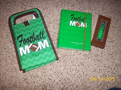 Football Mom insulated Cooler Tote,12 month Planner, and Pen Set.