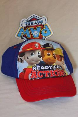 NEW Toddler Boys Baseball Cap Paw Patrol Dogs Blue Red Adjustable Hat Snap Back