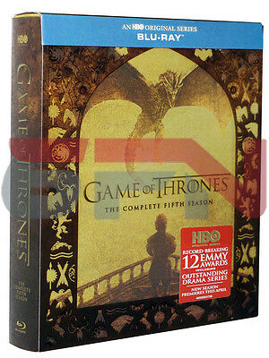 Game of Thrones: The Complete Fifth Season 5 (Blu-ray, 2016, 4-Disc Set) New!