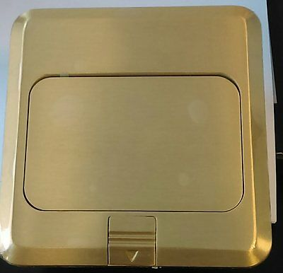 Pop Up Floor Box - Brass with UL listed Receptacle