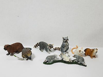Schleich lot of 7 Raccon Hedgehog Beaver Mouse Guinea pig