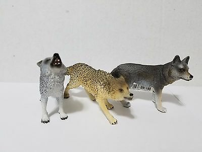 Schleich Lot 3 wolves howling wolf