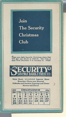 AE-002 - Security Savings Bank & Trust Co, 1924 Advertising Ink Blotter Small