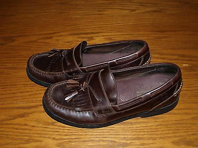 Men's~SPERRY TOP SIDER~WATERPROOF~Brown Leather BOAT Shoes Size: 8 M