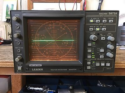 Leader 5872A Vector /Waveform Monitor -As is