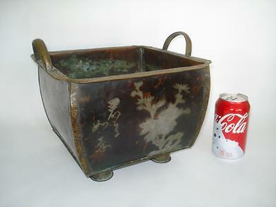 Antique Qing Chinese Copper & Silver Censer Inscribed 19Th Cent Mixed Metals