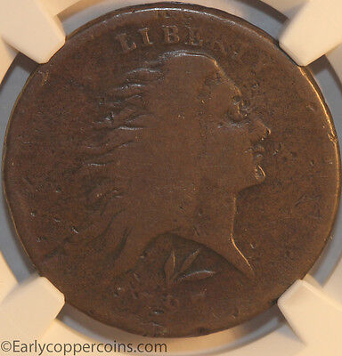 1793 S11c R3- Wreath Large Cent Lettered Edge NGC Good