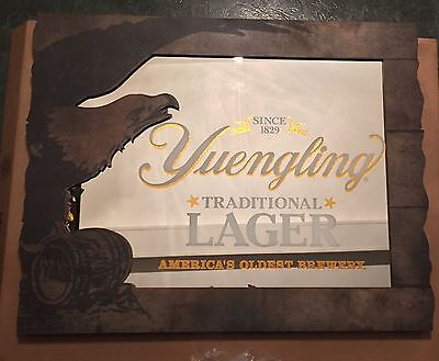 "Yuengling Traditional Lager Eagle Beer Mirror Sign 30x23"" - Brand New In Box"