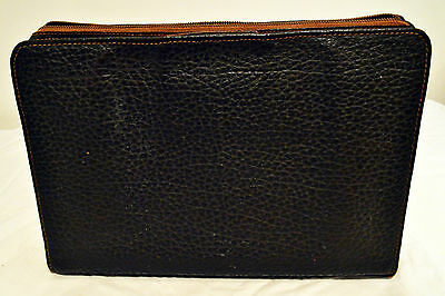 Antique Leather Portfolio with handles and zipper (looks like buffalo hide)