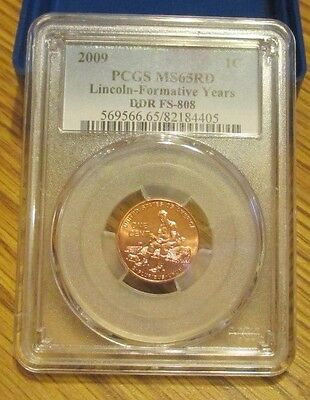 2009  Fy  Lincoln  Cent  Pcgs Ms65Rd   Ddr Fs-808