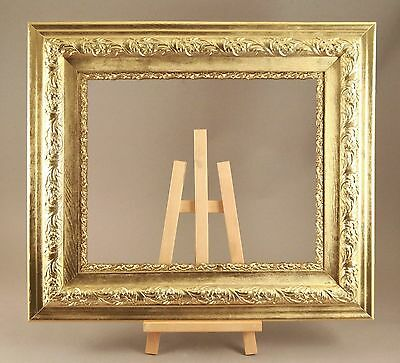 "Antique VICTORIAN GOLD Heavy Compo Gesso and Wood Picture Frame 25.5"" X 29.5"""