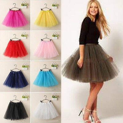 Women Tutu Dress Princess Dancewear Ballet Skirt 3 Layers Skirts Pettiskirt