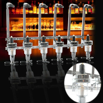 Wall Mountable Drink Dispenser optics 6 Bottle Holder Party Spirits uk