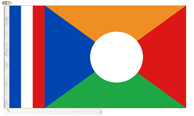 France Réunion Unofficial Roped & Toggled 2 Yard Courtesy Boat Flag