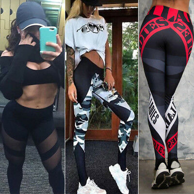 Women's Workout Leggings Fitness Sports Gym Running Yoga Athletic Pants Trouser