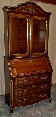 JASPER FRENCH STYLE SECRETARY Desk With Cabinet VINTAGE #8270
