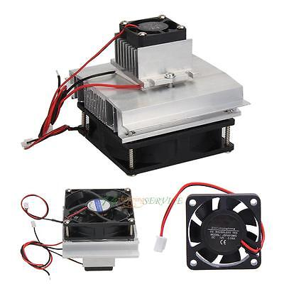 Thermoelectric Peltier Refrigeration Fan Fitting Cooling System Kit Cooler DIY