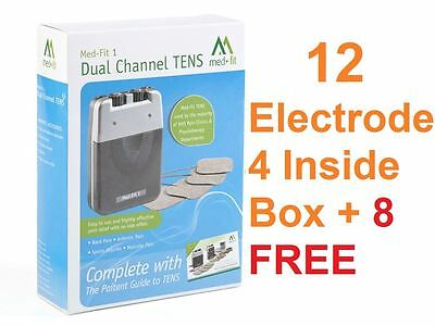 Med-Fit 1® Dual Channel TENS Machine Pain Relieving - 12 FREE electrodes 5cmx5cm