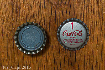 SET OF 2 CAPS - Vintage #1 Coca-Cola..plastic..unused..Soda Bottle Cap