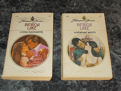 Harlequin Presents Patricia Lake lot of 2 contemporary romance paperbacks