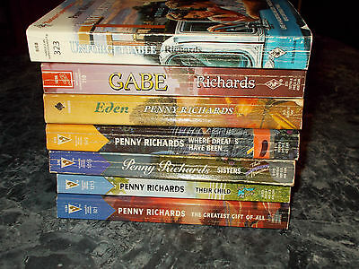 Harlequin Silhouette Penny Richards lot of 7 contemporary romance paperbacks