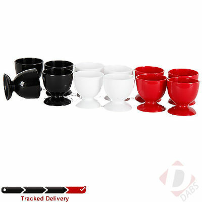 IKEA Benagen Set of 4 Egg Cups. Red - White - Black