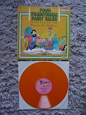 Brian Matthew Introduces Four Traditional Fairy Tales UK Tempo Orange Vinyl LP