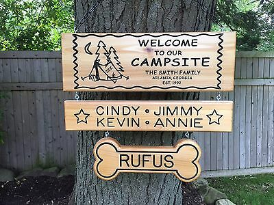 Personalized Camping Sign Custom Rv Sign Family Name Sign Glamp Sign