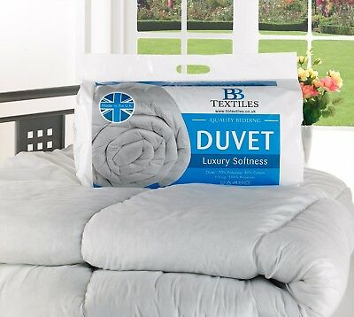 4.5/ 7.5 /10.5 /13.5 /15 Tog Hollowfibre Duvet/Quilt Summer and Winter All Sizes