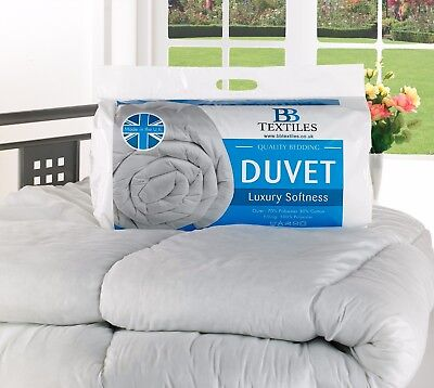 NEW Hollowfibre Duvet/Quilt 4.5 /10.5 /13.5 /15 Tog Summer and Winter All Sizes