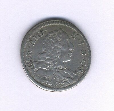 Germany Bavaria 1734  30 Kreuzer (1/2 Gulden) Silver Coin, Vf/xf