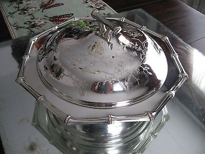 Antique/vintage  Butterflies   Complete Silver Plate Serving Dish Bowl