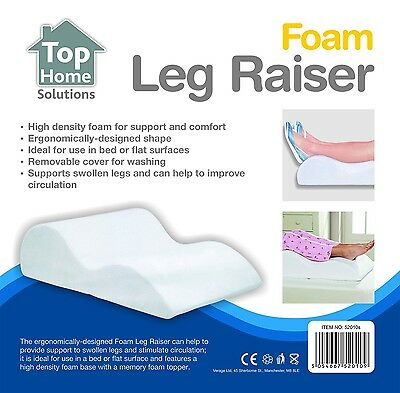 High Density Memory Foam Leg Foot Rest Raiser Support Pillow Cushion 18x42x63cm