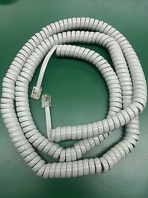 Gray Coil Curly Cord Handset Receiver Telephone Cable 25 ft Each NEW light gray