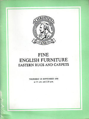 Fine English Furniture Auction Catalogue Christies 1980 FREEPOST