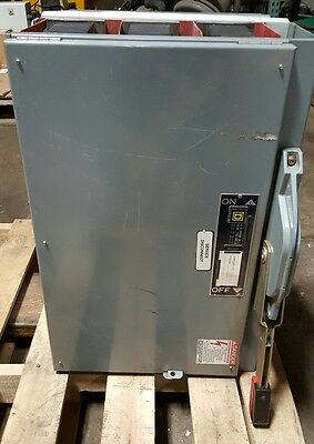 Square D Inline Electrical disconnect QMB-366W 600 Amp,600Vac  w/Fuses