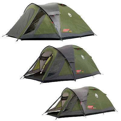 Coleman Darwin Plus Tent 2 3 4 Man Person Dome Tent With Extended Porch Camping