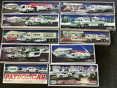 Hess Toy Trucks group of 10