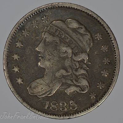1835 H10c Capped Bust Half Dime XF /Q-523