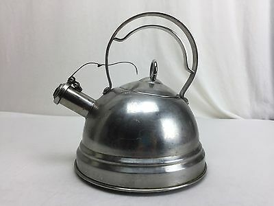 Vtg Corlini By Roscan Stainless Steel Tea Kettle Mid Century Modern Beautfiul