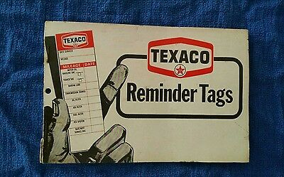 Texaco Oil Change Reminder Tags