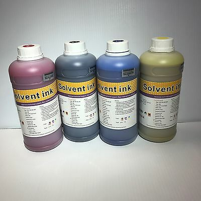 ECO SOLVENT INK / 4 LITERS CMYK for Roland, Mutoh, Mimaki Printers