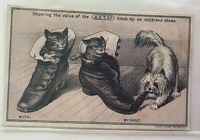Franklin Ohio Ad Card  @1890. Harris Bros.  Boots Shoes Slippers.  Children Shoe