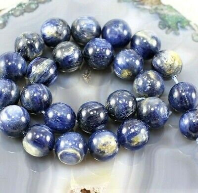 "*Ny6design 16x16mm Natural Blue Kyanite Round Beads 15"" (KY56)g for DIY Jewelry"
