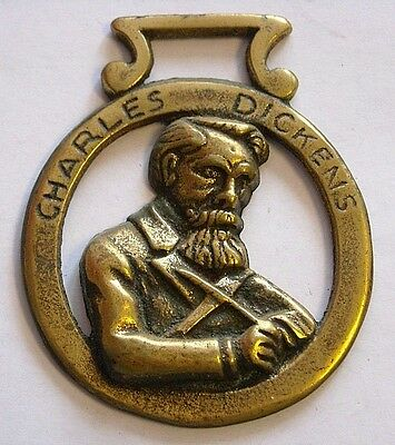 Vintage Horse Tack Brass Bridle Ornament~Charles Dickens