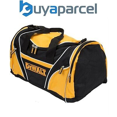 "Dewalt 8"" 46cm Toolbag Tool Bag Yellow Black Open Top Side Pockets + Strap"