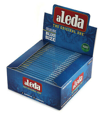 aLeda BLUE size clear Cellulose paper from Brazil - 1 box = 30 booklets